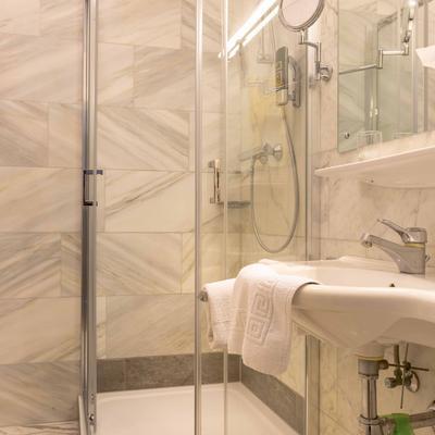 Einzelzimmer Dusche